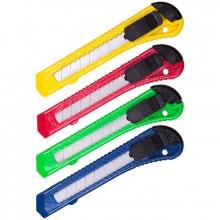 Нож канцелярский 18мм OfficeSpace, с фиксатором, европодвес (цена за штуку)